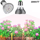 E27 30W Led Grow Light Gianor Full Spectrum Led Grow Bulb 40PCs SMD 5730 Chips Greenhouse Growing and Flowering Lamps for Indoor Garden and Hydroponic Plants(AC 85~265V) Review