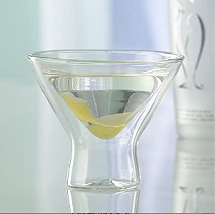 EZ Life Double Wall Martini Glass (200ml) - Set of 4