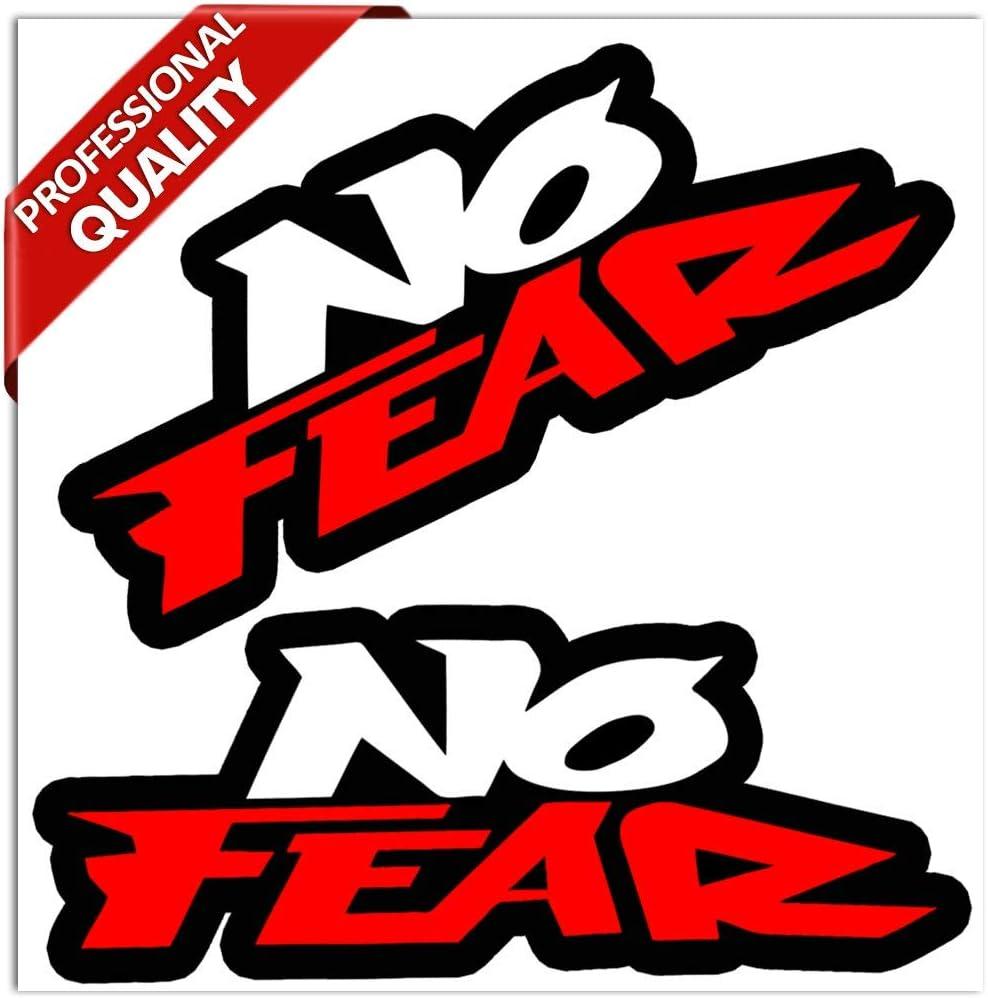 2x NO FEAR Sticker Decal Vinyl Window Laptop Car Truck Logo Wall Red