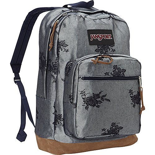 JanSport Right Pack in Silver Rose Jacquard