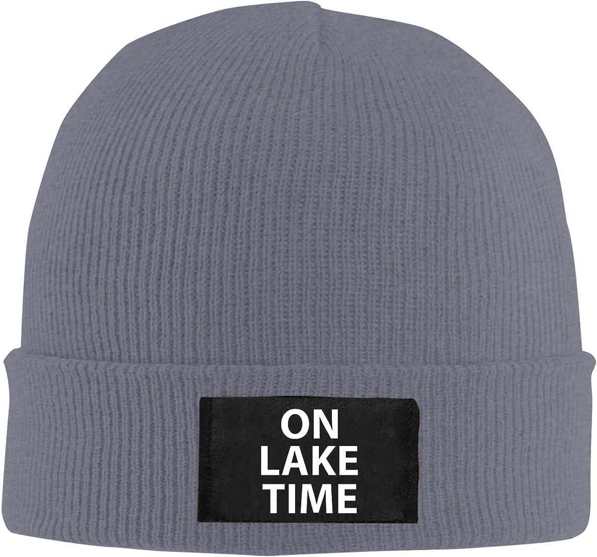 Unisex Stylish Slouch Beanie Hats Black On Lake Time Top Level Beanie Men Women