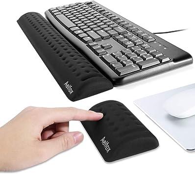 Keyboard Wrist Rest Black Memory Foam Computer Keyboard Pad 2 Pack Wrist Pad for Keyboard