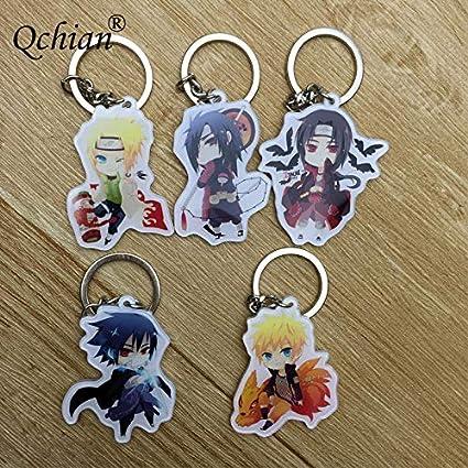 Amazon.com : HIENCOC Naruto Acrylic Keychain Kakashi Gaara ...