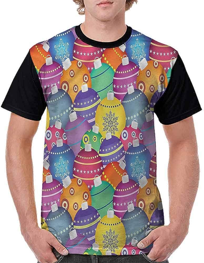 BlountDecor Cotton T-Shirt,Christmas Themed Dog Photo Fashion Personality Customization