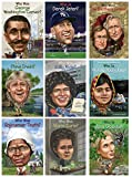 Who Was…? 9-Pack (Marie Curie, Sally Rider, Derek Jeter, Steve Irwin, Jan Goodall, George Washington Carver, Malala Yousafzai, Sojourner Truth, Brothers Grimm)