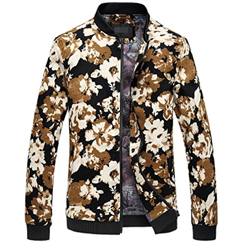 MRstriver New Fashion Men's Jacket Flower Print Bomber Jacket Autumn Casual Male Clothing Size 5XL 6XL MJ409 992 M
