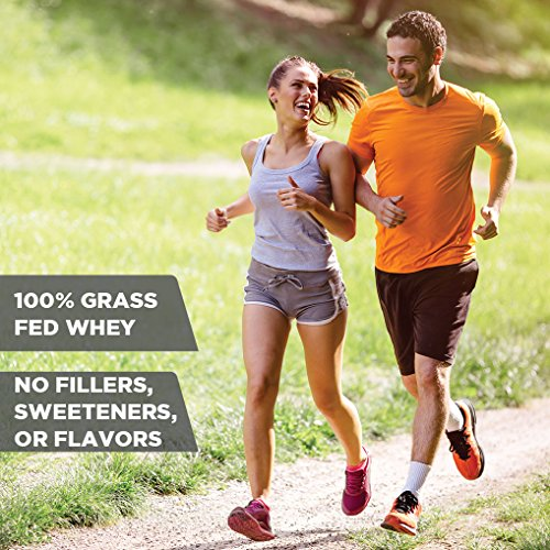 Amazon.com: Grass Fed Whey Protein - 100% Pure, Natural & Raw – 24g High Protein - 5lb/75 Servings - Cold Processed Undenatured - Non-GMO - rBGH - High ...