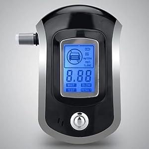 Éthylotest LESHP Alcool Testeur Numérique Professionnel avec Ecran LCD (5 Embouts Inclus pour Les Conducteurs et Les Mères Enceintes)