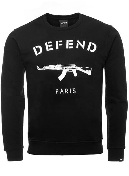 Defend Paris – Sudadera para hombre negro Large