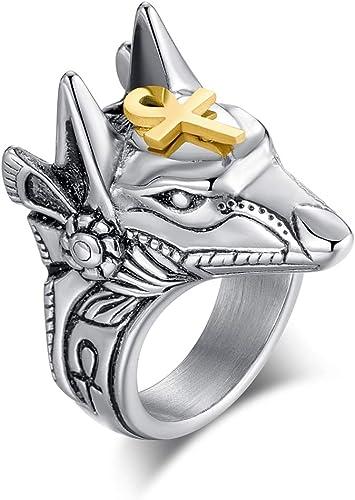 Acero inoxidable-ring cruz cruz banda anillo Biker calidad superior