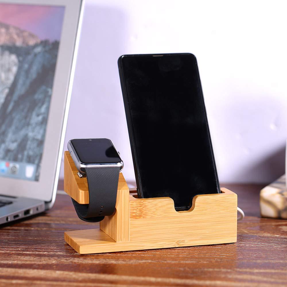 Amazon.com: Festnight - Soporte de carga USB de madera para ...