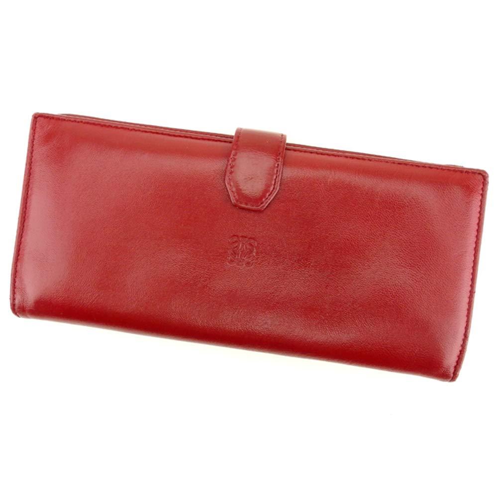 [ロエベ] LOEWE 長財布 ファスナー付き 財布 レディース メンズ アナグラム 中古 T9380 B07NRCF7HJ