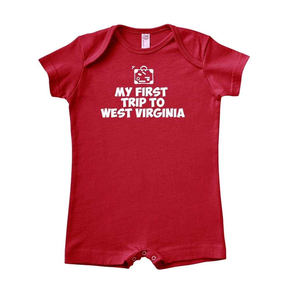 Mashed Clothing My First Trip to West Virginia Baby Romper