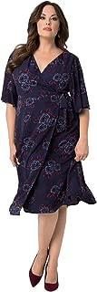 product image for Kiyonna Women's Plus Size Cecile Chiffon Wrap Dress