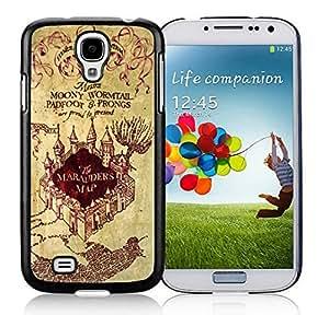 BINGO new arrived Harry Potter Marauders Map Samsung Galaxy S4 i9500 Case Black Cover