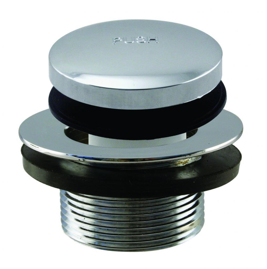 Westbrass Tip Toe 1-3/8'' NPSM Fine Thread Bath Drain, Polished Chrome, D3323-26