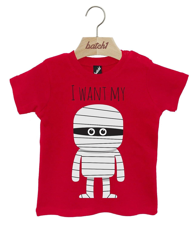Batch1 I Want My Mummy Cute Halloween Fancy Dress Popper Neck Baby T-Shirt