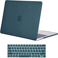 MOSISO MacBook Pro 13 Inch Case 2019 2018 2017 2016 Release A2159 A1989 A1706 A1708,Plastic Hard Shell Cover with Keyboard Skin Compatible with MacBook Pro 13 Inch with/Without Touch Bar,Deep Teal