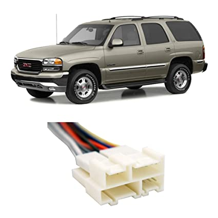 image unavailable  image not available for  color: fits gmc yukon 1992-2002  factory stereo to aftermarket radio install harness adapter