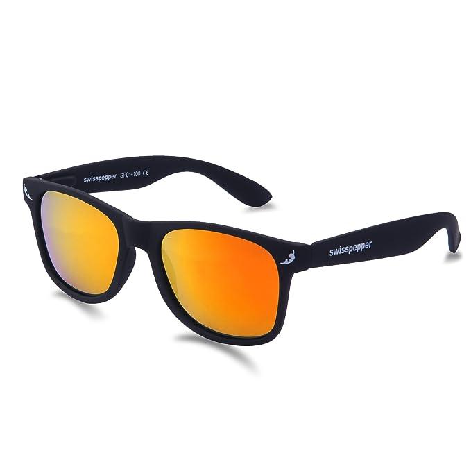 5a07183331 Amazon.com: swisspepper Sunglasses/BLACK - FIRE Lens: Clothing