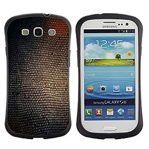 """Pulsar iFace Series Tpu silicona Carcasa Funda Case para SAMSUNG Galaxy S3 III / i9300 / i747 , Serpiente Estructura de la piel Arte Glow Shine Marrón"""""""