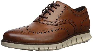 de25a597bc1d02 Cole Haan Men s Zerogrand Wingtip Oxford 7 British Tan