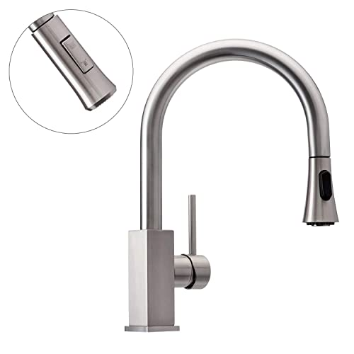 Wasserrhythm Kitchen Faucet with Pull-down Sprayer Brushed Nickel Review