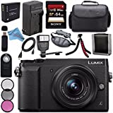 Panasonic Lumix DMC-GX85 DMCGX85 Digital Camera with 12-32mm Lens + 37mm 3 Piece Filter Kit + DMW-BLG10 Lithium Ion Battery + External Rapid Charger + Sony 64GB SDXC Card Bundle