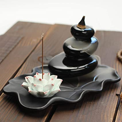 Ceramic Home Decration Incense Sticks or Cones Burner Porcelain Incense Holder