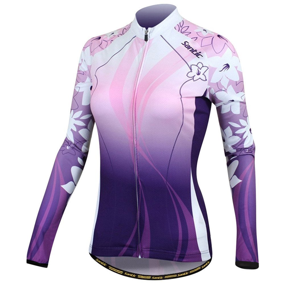 Santic Women's Cycling Jersey Loog Sleeve Road Bike Jersey Jacket Purple Small SANTIC(QUANZHOU) SPORTS CO. LTD.