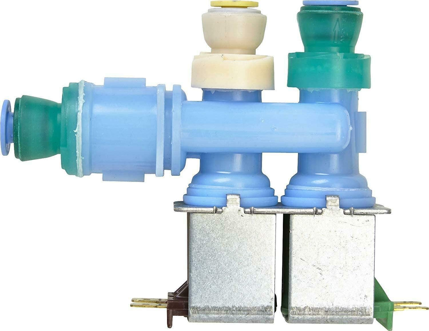 NEW W10312696 Water Inlet Valve Compatible for Whirlpool Washer made by OEM Manufacturer AP6019288, PS11752594 by Primeco - 1 YEAR WARRANTY