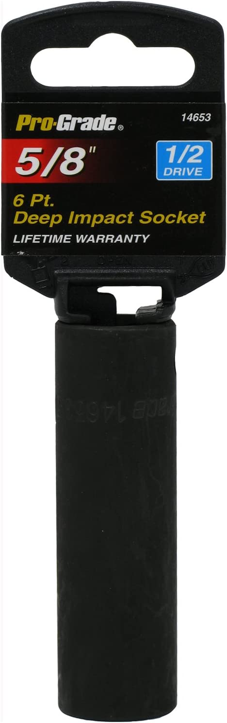 Pro-Grade 14670 1//2-Inch Drive with 6 Point Deep 13mm Impact Socket