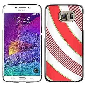 Paccase / SLIM PC / Aliminium Casa Carcasa Funda Case Cover para - Lines White Minimalistic Girly - Samsung Galaxy S6 SM-G920