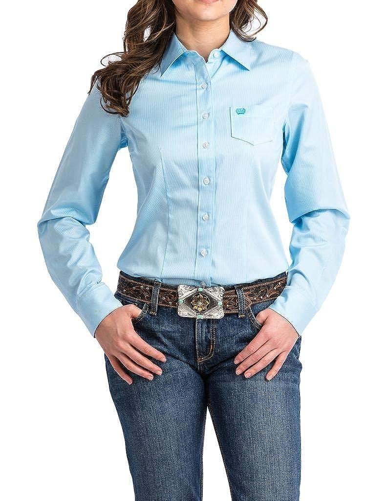 Light bluee Cinch Womens Printed Long Sleeve Shirt Button Down Shirt