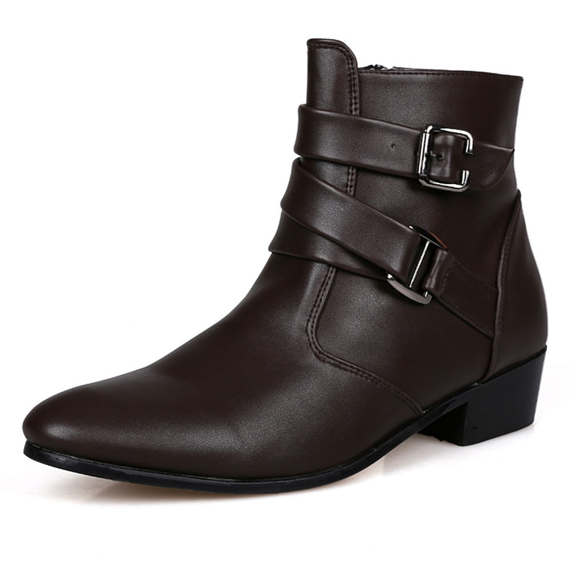 A-cool Men's Narrate Plain Toe Martin Boot Ankle Boots