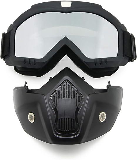 Maschera Protezione Viso Half-Face Neoprene Nera Biker Custom Moto Idea Regalo