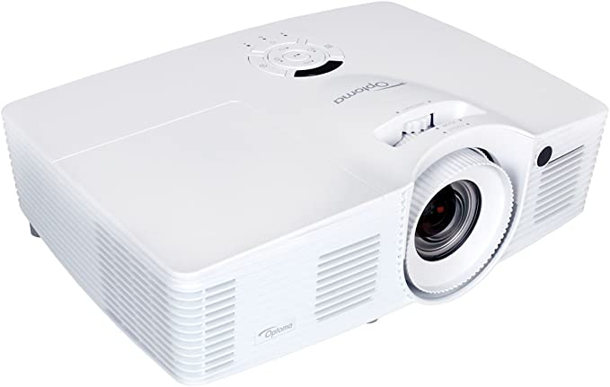 Opinión sobre Optoma DH401 – Proyector DLP (1080P Proyector, 1920 x 1080 Pixeles, 4000 Lúmenes ANSI, Contraste 15000: 1, Full HD, HDMI, 1,6 x Zoom), Color Blanco/Negro
