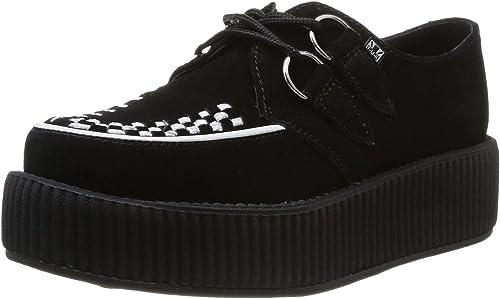 TUK Noir Blanc Suede Femmes Hommes Unisexe Creepers Chaussures Baskets:  Amazon.fr: Chaussures et Sacs