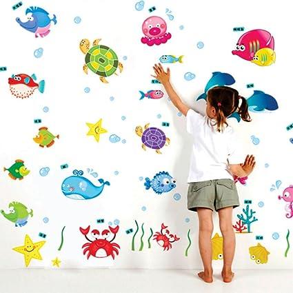 Decals Design Underwater Creatures Baby Wall Sticker (PVC Vinyl, 50 cm x 70 cm)