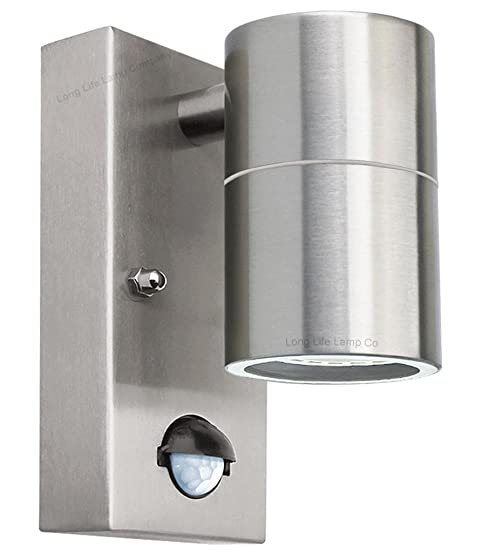 Pir stainless steel single outdoor wall light with with movement pir stainless steel single outdoor wall light with with movement sensor zlc09dsen down outdoor wall light aloadofball Image collections