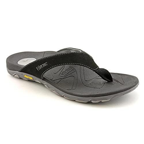 7761d3eb3ca2 Orthaheel Bryce Orthotic Flip Flops for Men Black Grey - 7 M US UK Size    6  Amazon.co.uk  Shoes   Bags