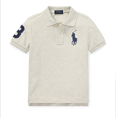 a852ab12 Image Unavailable. Image not available for. Color: Polo Ralph Lauren Boys  Big Pony & Number on Sleeves ...