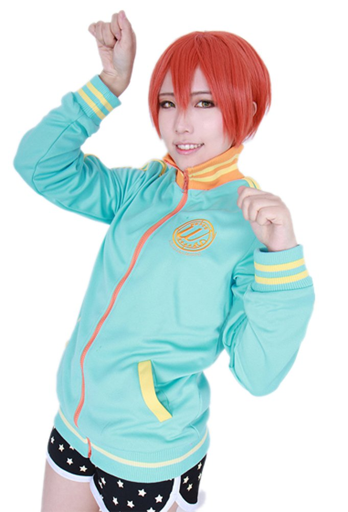 ROLECOS Womens Casual Zipper Sports Hoodie Coat Japanese Anime Cosplay Costume M