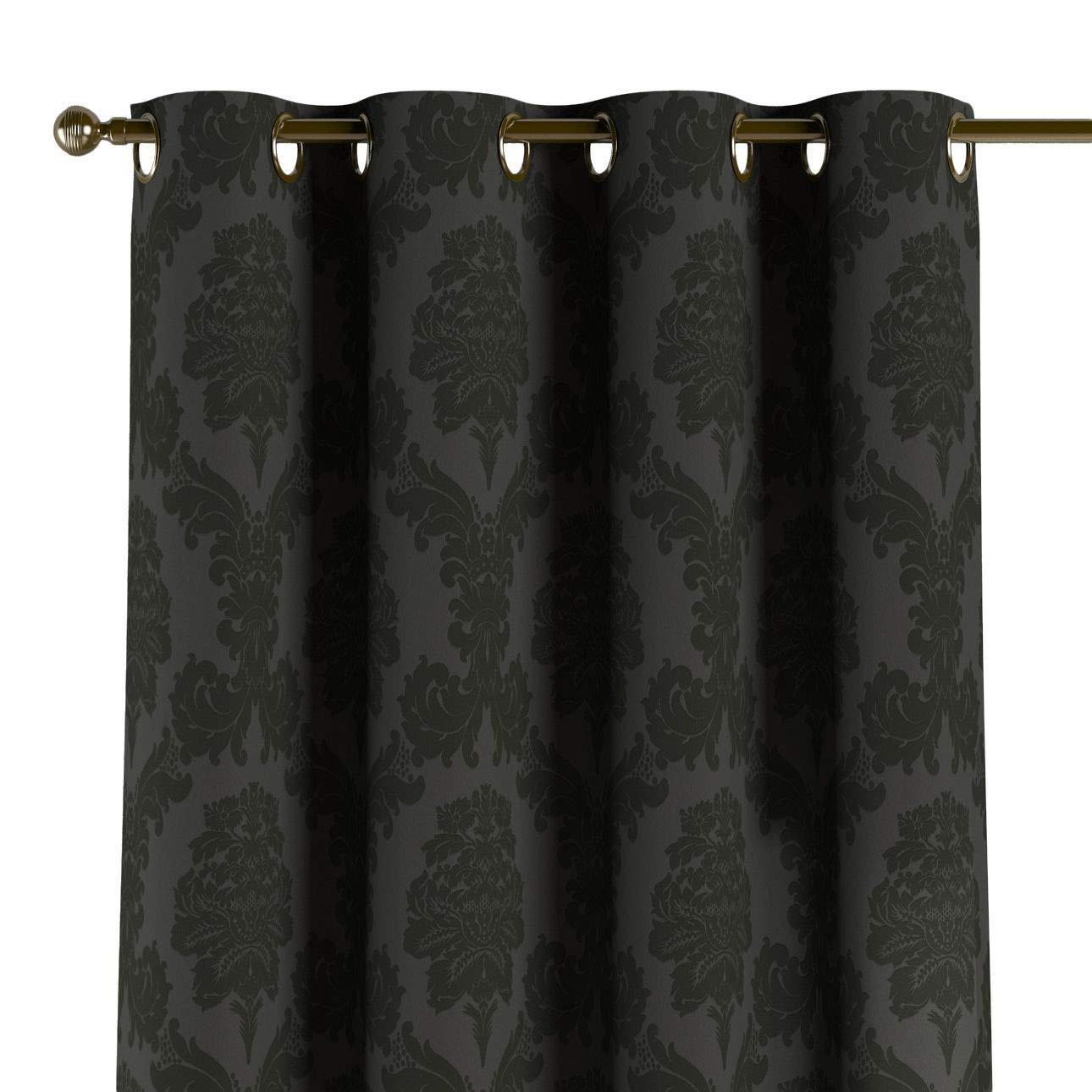 Dekoria Ösenschal Dekoschal Blickdicht 1 Stck. 130 × 260 cm schwarz Maßanfertigung möglich