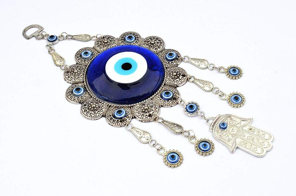 CAISHEND Blue Evil Eye con Hand Protection Ornament Hanging Ornament