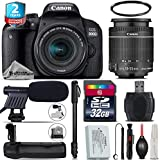 Canon EOS Rebel 800D/T7i Camera + 18-55mm IS STM Lens + Battery Grip + 2yr Extended Warranty + 32GB Class 10 Memory Card + 72 Monopod + UV Filter + Cleaning Kit - International Version