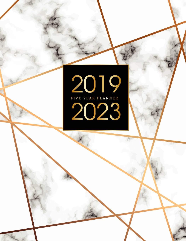 2019-2023 Five Year Planner: Elegant Marble, 60 Months ...