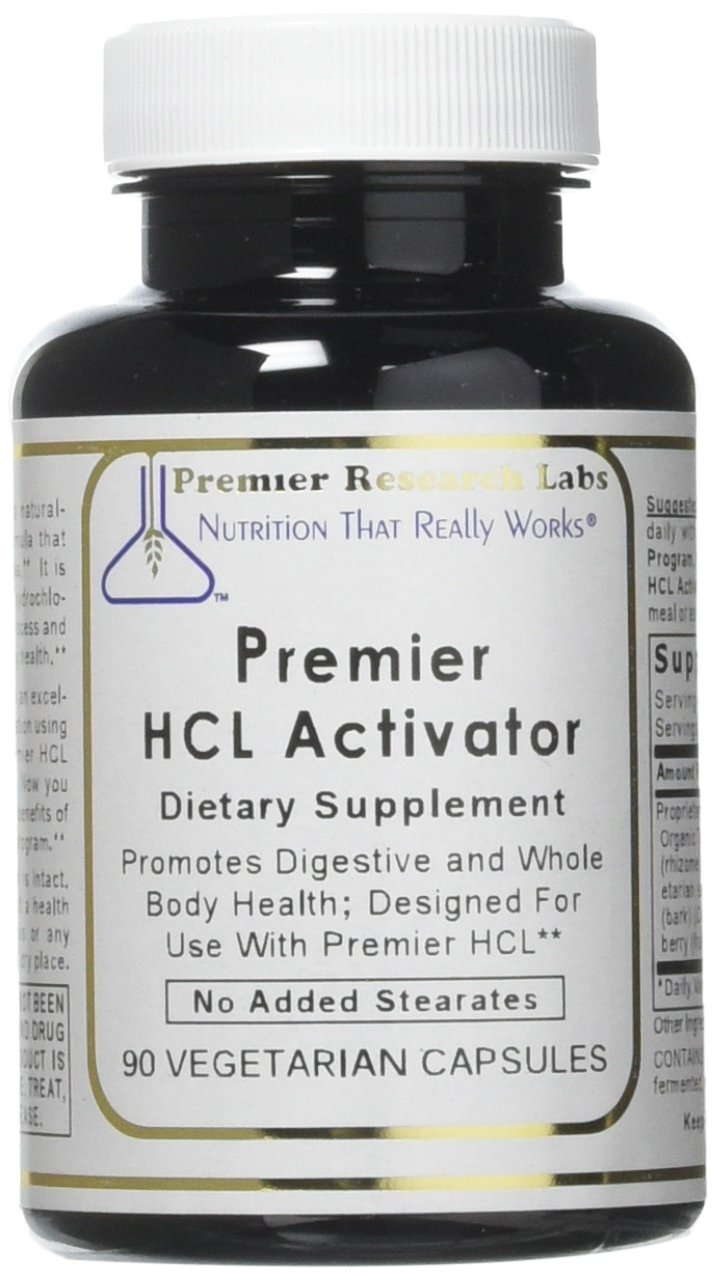 Premier HCL Activator, 90 Capsules, Vegan Product - Digestive and Whole Body Health Support with Pepsin (vegetarian source); Designed for Use with Premier HCL