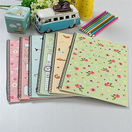 234e8f5883d7f Amazon.com: Bazaar Vintage notebook Forest animal book Diary 30 ...