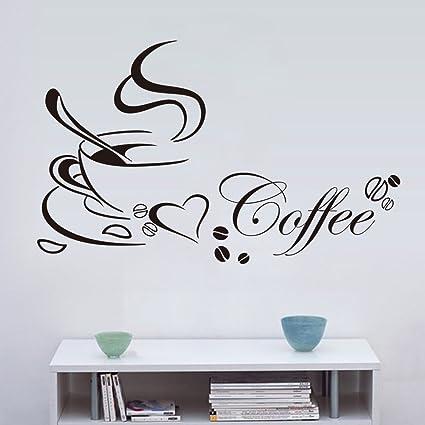 Venkaite Wall Sticker Tazze di caffè Adesivi Murales DIY Rimovibile ...